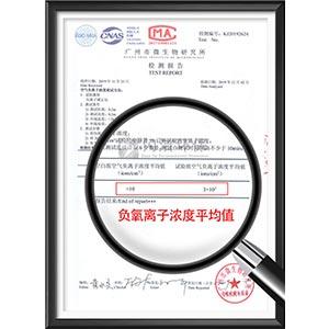 空气负离子浓度测试检测报告
